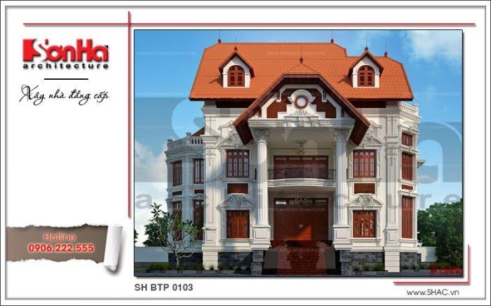 kiến trúc biệt thự tân cổ điển đẹp đang được ưa chuộng