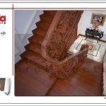 Không gian nội thất sảnh thang biệt thự lâu đài tại Hà Nội sh btld 0025