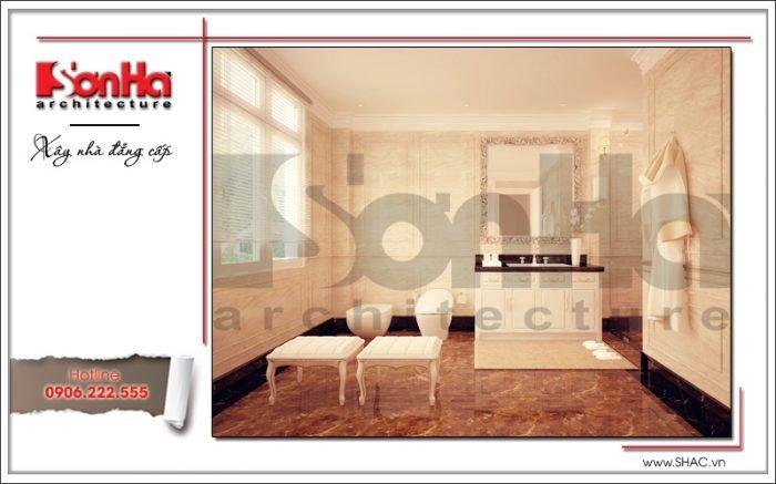 Thiết kế nội thất phòng tắm biệt thự Pháp tại Hà Nội sh btp 0102