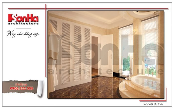 Mẫu thiết kế nội thất phòng tắm biệt thự Pháp tại Hà Nội sh btp 0102