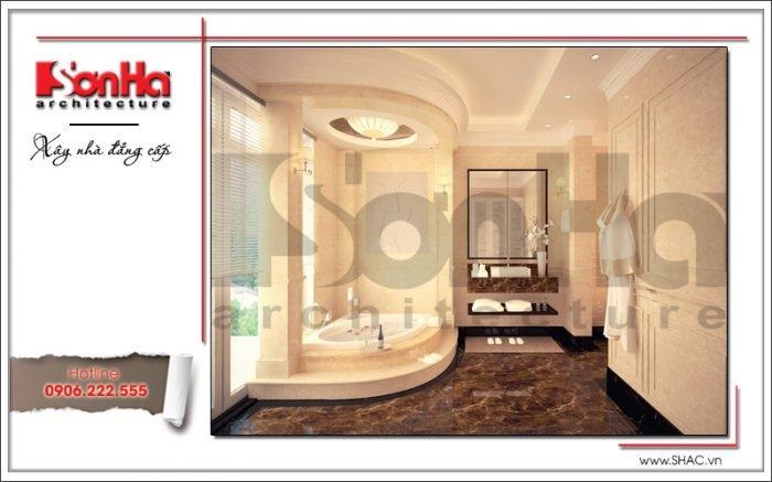 Thiết kế phòng tắm biệt thự Pháp tại Hà Nội sh btp 0102