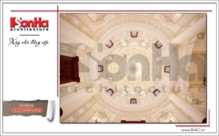 Mẫu thiết kế vòm biệt thự lâu đài tại Hà Nội sh btld 0025