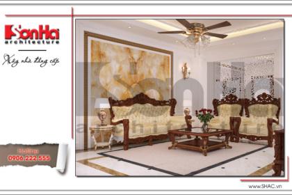 Mẫu thiết kế nội thất phòng khách cổ điển tại Quảng Ninh