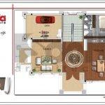 Mặt bằng công năng tầng 1 biệt thự hiện đại tại Quảng Bình btd 0055