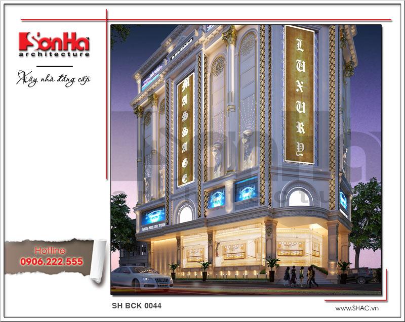 Thiết kế kiến trúc quán karaoke 7 tầng tại Vĩnh Phúc - SH BCK 0044 3