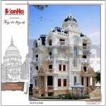 Thiết kế kiến trúc biệt thự lâu đài cổ điển Pháp btld 0026