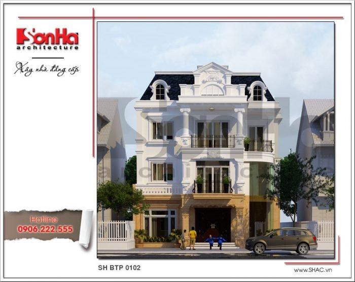 Thiết kế kiến trúc biệt thự Pháp tại Hà Nội sh btp 0102