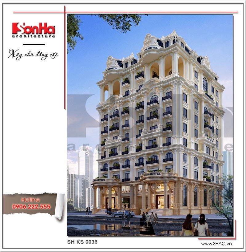 Thiết kế khách sạn cổ điển tiêu chuẩn 4 sao tại Bắc Ninh - KS 0036 3