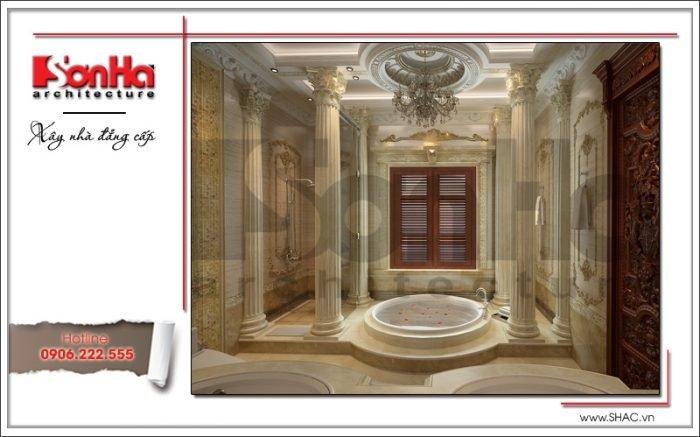 Thiết kế nội thất wc 2 biệt thự lâu đài tại Hà Nội sh btld 0025