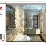 Thiết kế nội thất wc 1 biệt thự lâu đài tại Hà Nội sh btld 0025