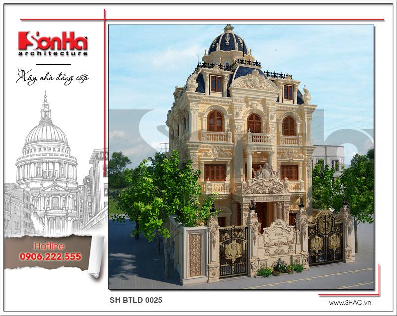 Mãn nhãn với thiết kế biệt thự lâu đài 4 tầng tại Hà Nội – SH BTLD 0025 2