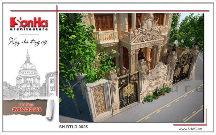 Thiết kế sân vườn biệt thự lâu đài tại Hà Nội sh btld 0025