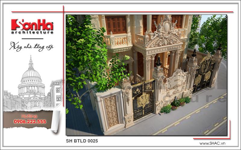 Mãn nhãn với thiết kế biệt thự lâu đài 4 tầng tại Hà Nội – SH BTLD 0025 4