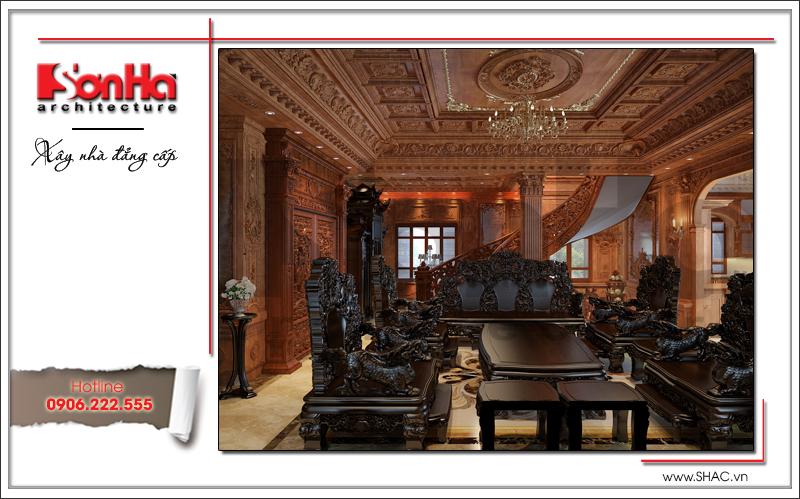 Mãn nhãn với thiết kế biệt thự lâu đài 4 tầng tại Hà Nội – SH BTLD 0025 8