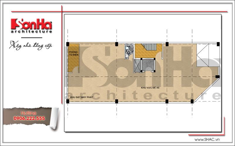 Thiết kế kiến trúc quán karaoke 7 tầng tại Vĩnh Phúc - SH BCK 0044 12