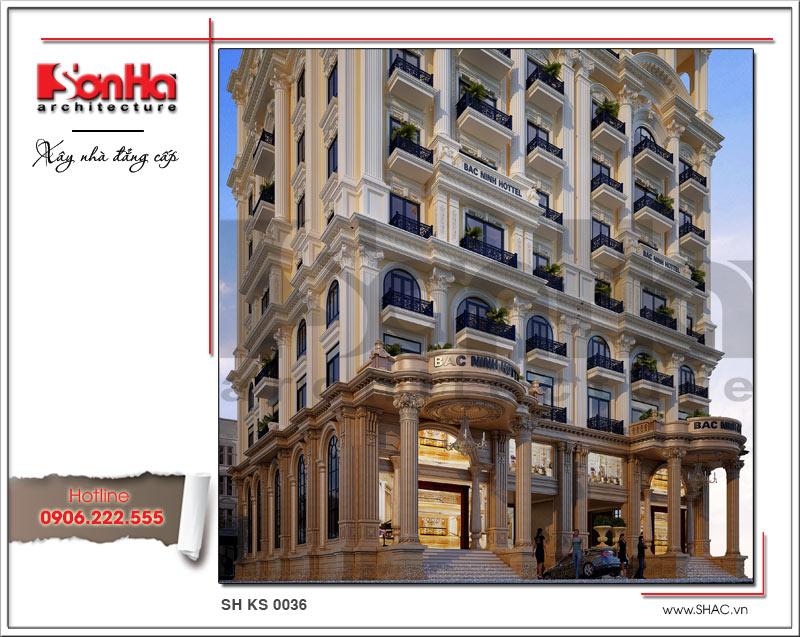 Thiết kế khách sạn cổ điển tiêu chuẩn 4 sao tại Bắc Ninh - KS 0036 4