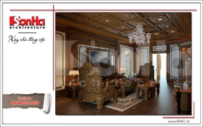 mẫu phòng khách biệt thự tân cổ điển đẹp