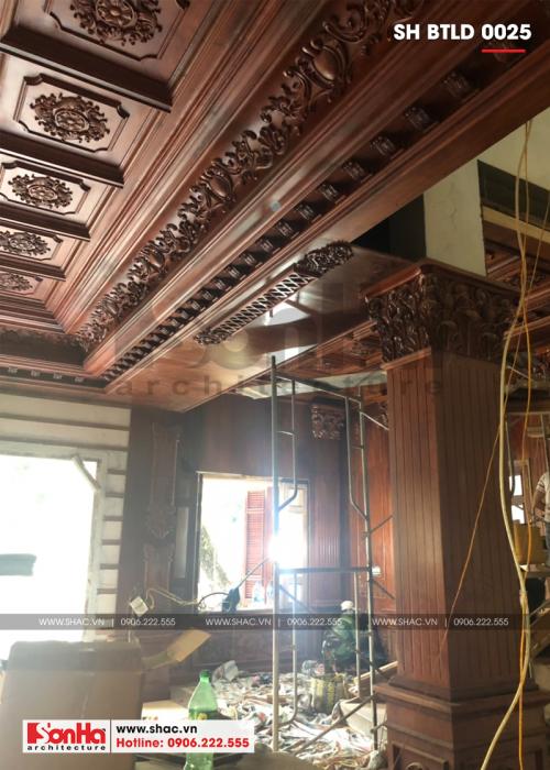 4 Ảnh thực tế thi công nội thất biệt thự lâu đài tại hà nội sh btld 0025