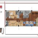 Mặt bằng công năng tầng 1 quán karaoke tại Vĩnh Phúc sh bck 0044