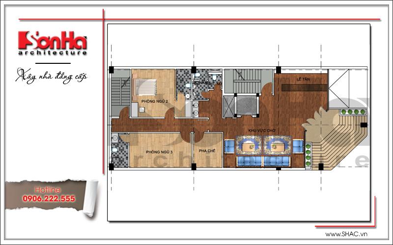 Thiết kế kiến trúc quán karaoke 7 tầng tại Vĩnh Phúc - SH BCK 0044 13