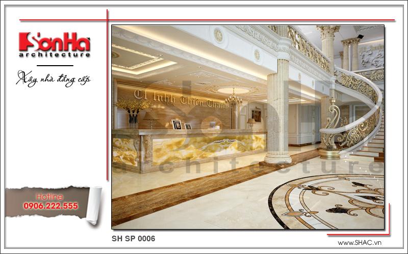 Mẫu thiết kế nội thất sảnh lễ tân spa tại Phú Quốc sh sp 0006