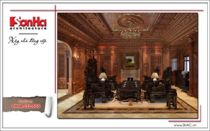 Nội thất sang trọng biệt thự lâu đài tại Hà Nội sh btld 0025