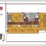 Mặt bằng công năng tầng 2 quán karaoke tại Vĩnh Phúc sh bck 0044