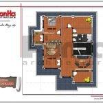 Mặt bằng công năng tầng 3 biệt thự tân cổ điển tại Hải Phòng sh btp 0101