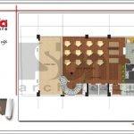 Mặt bằng công năng tầng lửng khách sạn tại Bắc Ninh sh ks 0036
