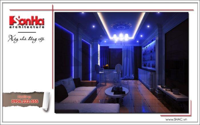Thiết kế nội thất phòng karaoke biệt thự Pháp tại Hà Nội sh btp 0102