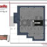 Mặt bằng mái biệt thự tân cổ điển tại Hải Phòng sh btp 0101