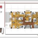 Mặt bằng công năng tầng 2-3-4-5 khách sạn tại Bắc Ninh sh ks 0036