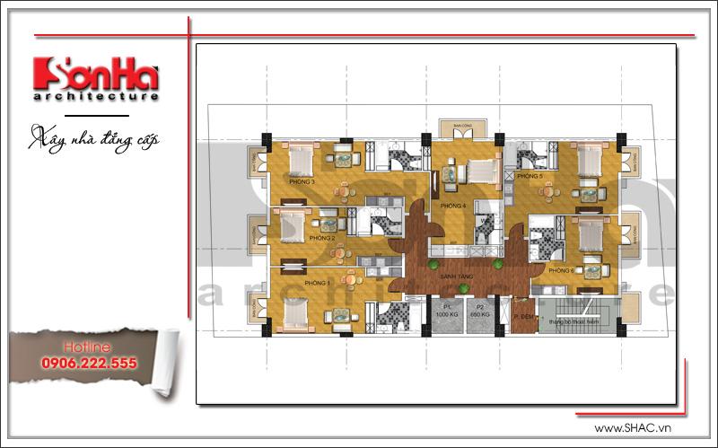Thiết kế khách sạn cổ điển tiêu chuẩn 4 sao tại Bắc Ninh - KS 0036 8