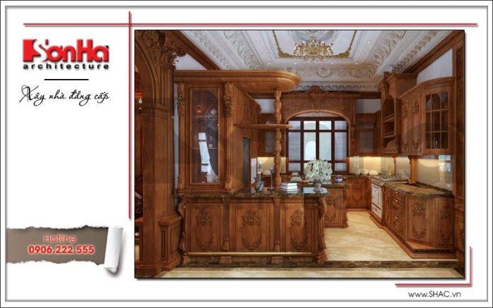 Mẫu nội thất phòng bếp biệt thự lâu đài tại Hà Nội sh btld 0025