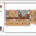 Mặt bằng công năng tầng 4 quán karaoke tại Vĩnh Phúc sh bck 0044