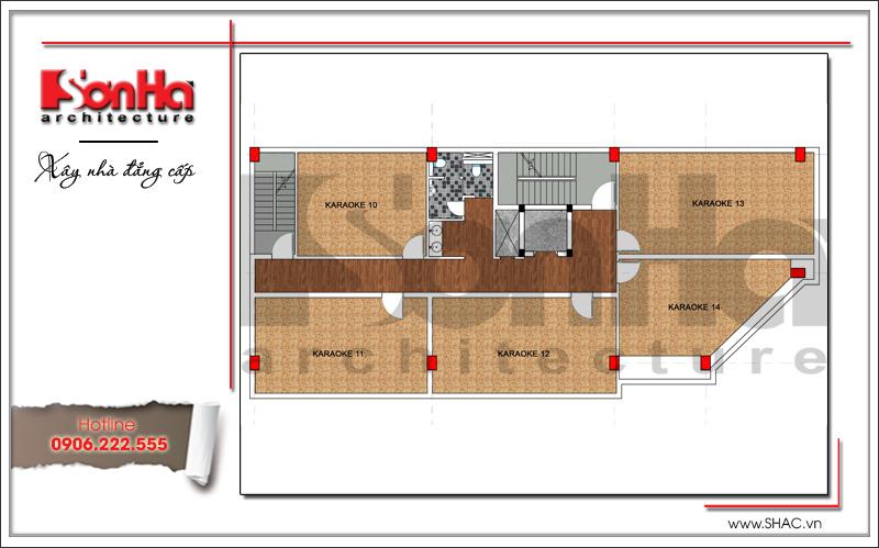 Thiết kế kiến trúc quán karaoke 7 tầng tại Vĩnh Phúc - SH BCK 0044 16