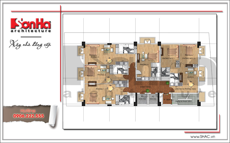 Thiết kế khách sạn cổ điển tiêu chuẩn 4 sao tại Bắc Ninh - KS 0036 9