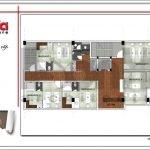 Mặt bằng công năng tầng 5 quán karaoke tại Vĩnh Phúc sh bck 0044