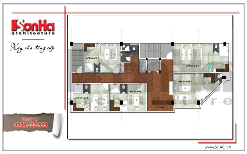 Thiết kế kiến trúc quán karaoke 7 tầng tại Vĩnh Phúc - SH BCK 0044 17