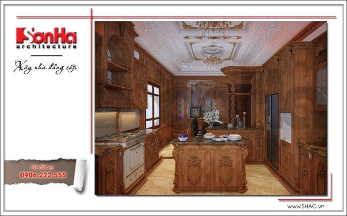 Thiết kế nội thất phòng bếp biệt thự lâu đài tại Hà Nội sh btld 0025