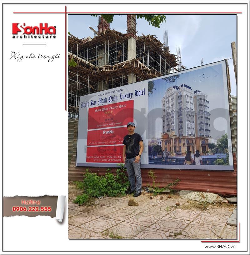 Thiết kế kiến trúc quán karaoke 7 tầng tại Vĩnh Phúc - SH BCK 0044 20