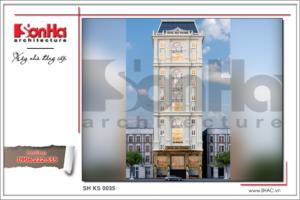BÌA Mẫu thiết kế khách sạn 3 sao 12 tầng tại Hải Phòng sh ks 0035