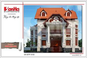 BÌA Thiết kế biệt thự Pháp cổ 3 tầng tại Biên Hòa sh btp 0103