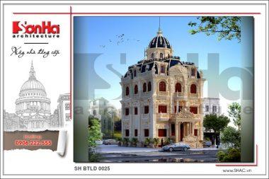 BÌA Mãn nhãn với thiết kế biệt thự lâu đài tại Hà Nội sh btld 0025