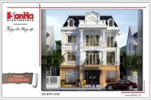 BÌA Mẫu thiết kế biệt thự Pháp tại Hà Nội sh btp 0102