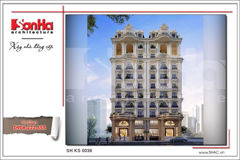 Thiết kế khách sạn cổ điển tiêu chuẩn 4 sao tại Bắc Ninh - KS 0036 6