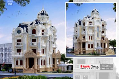 Biệt thự cổ điển 5 tầng diện tích 140m2