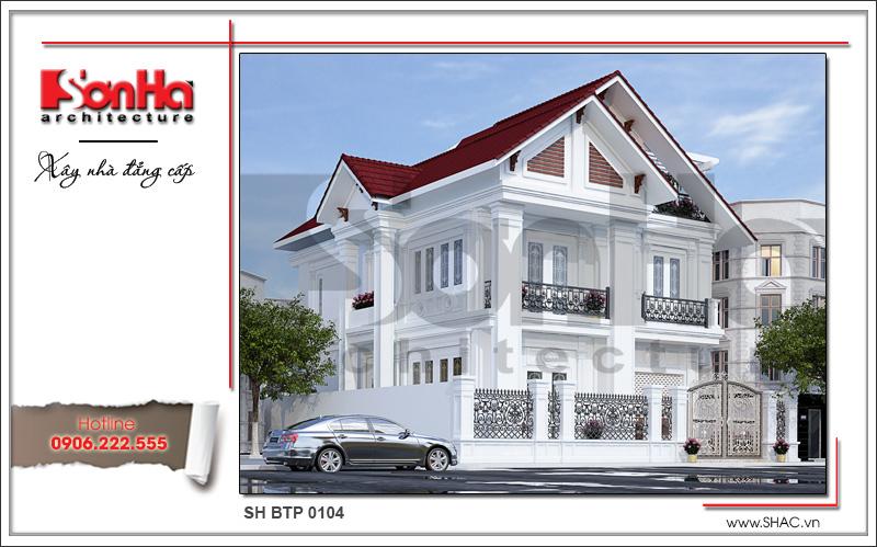 Thiết kế kiến trúc biệt thự tân cổ điển tại Hải Phòng sh btp 0104