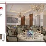 Mẫu Thiết kế nội thất phòng ăn khách sạn tại Quảng Ninh sh ks 0037