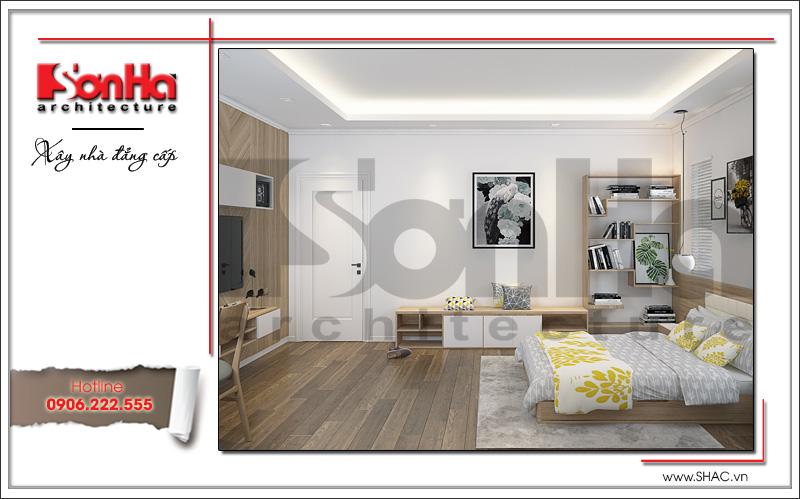 Mẫu thiết kế nội thất phòng ngủ con gái biệt thự tân cổ điển tại Hải Phòng sh btp 0104